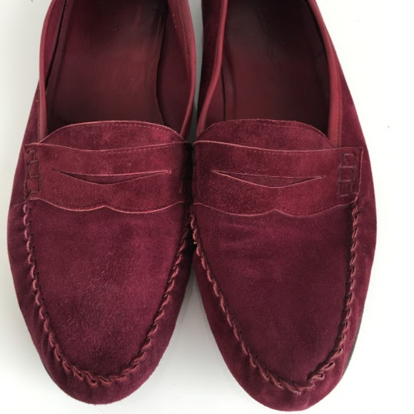 1484c6e1472 Cole Haan Other - Mens Cole Haan Burgundy Suede Penny Loafers